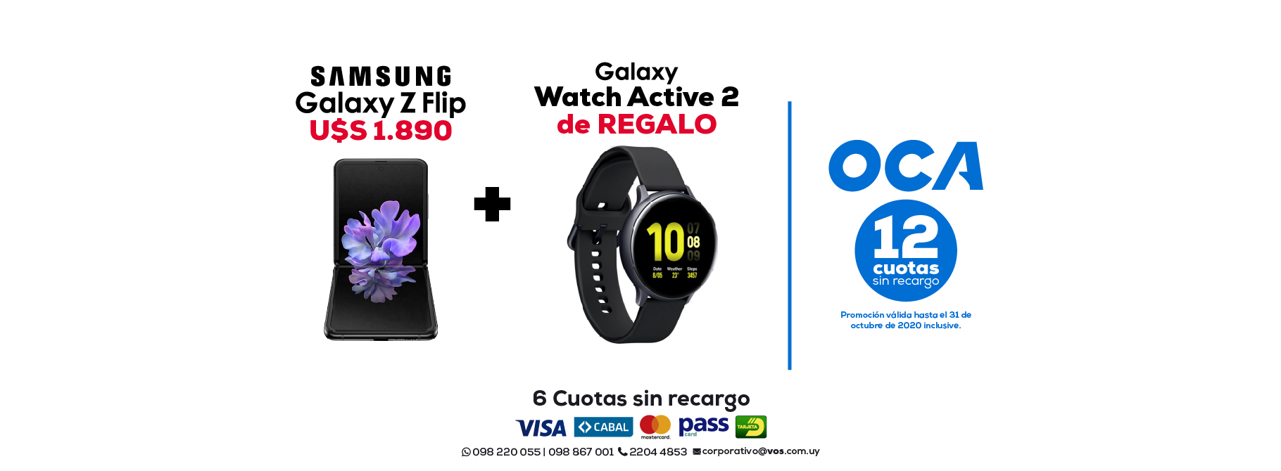 Samsung Z Flip + Watch Active 2 de Regalo